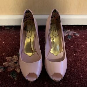 Ted Baker Pink Peep Toe Shoes